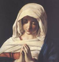 Blessed Mother in prayer