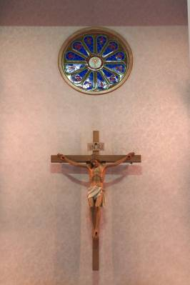 Crucifix and Rosette from old church